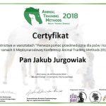 Certyfikat - Pierwsza pomoc przedmedyczna dla psów i kotów