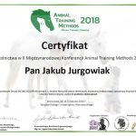 Certyfikat - Animal training method
